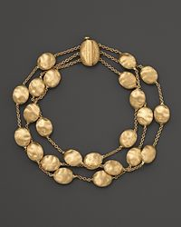 "Marco Bicego | Yellow ""siviglia Collection"" Triple Strand Gold Bracelet 