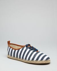 MICHAEL Michael Kors - Blue Lace Up Espadrille Oxford Flats Del Ray - Lyst