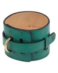 Mulberry | Green Wide Leather Bracelet | Lyst