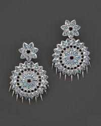 Paul Morelli | Applique Large Spiral Double Dangle Earrings With Blue Topaz And Black Spinel | Lyst