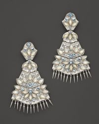 Paul Morelli | Metallic Applique Quad Dangle Earrings With Mother-of-pearl And Blue Topaz | Lyst