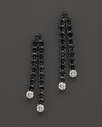 Roberto Coin - Multicolor 18k White Gold Fantasia Black Sapphire In Diamond Earrings - Lyst