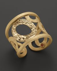 Roberto Coin | 18k Yellow Gold Chic & Shine Cuff Ring | Lyst
