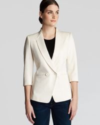 Ted Baker - Natural Meeda Double Breasted Blazer - Lyst