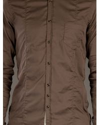 Aglini | Brown Elbow Patch Shirt for Men | Lyst