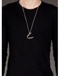 Alice Waese - Metallic Fish Jaw Charm Necklace for Men - Lyst
