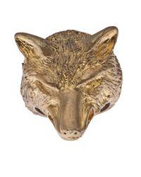 Alkemie | Metallic Wolf Ring | Lyst