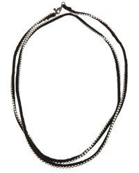 Alyssa Norton - Black Rhinestone Wrap Necklace - Lyst