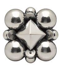 Bottega Veneta | Metallic Sterling Silver Pin | Lyst