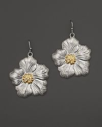 Buccellati | Metallic Blossom Medium Drop Flower Earrings with Gold Accents | Lyst