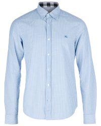 Burberry Brit - Blue Striped Shirt for Men - Lyst