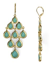 Carolee - Green Chandelier Earrings - Lyst