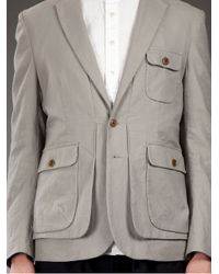 Casely-Hayford | Gray Traditional Safari Jacket for Men | Lyst