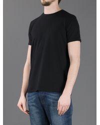 Cesare Paciotti Black Dagger Logo Detail Tshirt for men