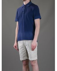 Closed - Blue Stone Washed Polo Shirt for Men - Lyst
