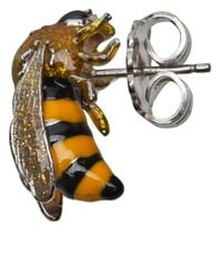 Delfina Delettrez - Yellow Bee Earrings - Lyst