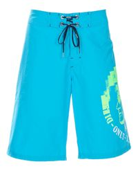 DIESEL | Blue Swimming Trunks for Men | Lyst