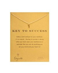 Dogeared - Metallic Gold Key To Success Necklace 18 - Lyst