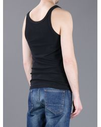 Dolce & Gabbana - Black Ribbed Jersey Tank Top for Men - Lyst