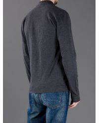 Dolce & Gabbana - Gray Long Sleeve Polo Shirt for Men - Lyst