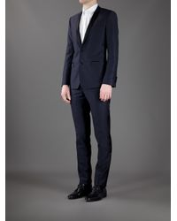 Dolce & Gabbana - Blue Suit with Contrast Piping for Men - Lyst