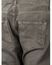DRKSHDW by Rick Owens - Gray Detroit Cropped Jean for Men - Lyst