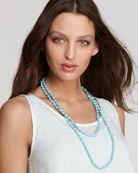 Eileen Fisher - Blue Beaded Necklace - Lyst