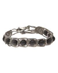 Emanuele Bicocchi | Black Onyx Silver Bracelet for Men | Lyst