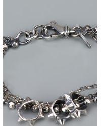 Emanuele Bicocchi   Metallic Studded Ball Bracelet   Lyst