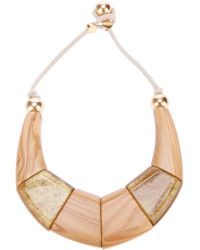 Emporio Armani - Metallic Contrast Statement Necklace - Lyst