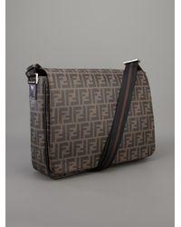 Fendi Brown Monogram Messenger Bag for men