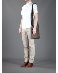 Fendi Brown Monogram Shoulder Bag for men