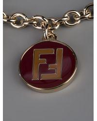 Fendi - Red Charm Bracelet - Lyst
