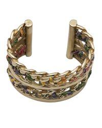 Gas Bijoux - Metallic Cuff Ribbon Bracelet - Lyst