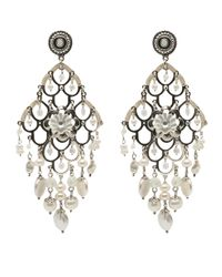 Gas Bijoux | White Mother Of Pearl Earring | Lyst