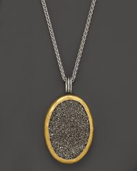 Gurhan | Metallic Sterling Silver and 24k Gold Galaxy Druzy Pendant Necklace 16 | Lyst
