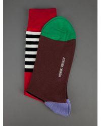 Henrik Vibskov | Red Bauhaus Socks for Men | Lyst