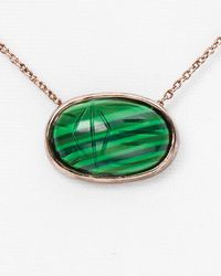 House of Harlow 1960 | Green Scared Scarab Pendant Necklace 16 | Lyst
