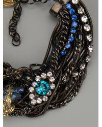 Iosselliani | Metallic Rams Head Crystal Tangled Bracelet | Lyst
