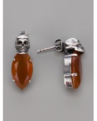 Iosselliani - Metallic Skull Earrings - Lyst