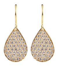 Irene Neuwirth | Pink Diamond Pear Shaped Drop Earrings | Lyst