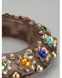 Jean Paul Gaultier - Brown Mille Fiori Cuff - Lyst