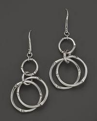 John Hardy - Metallic Bamboo Silver Long Round Drop Earrings - Lyst