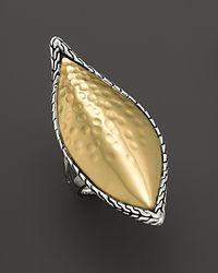 John Hardy - Metallic Palu Kapal 22k Gold and Sterling Silver Large Sail Ring - Lyst