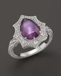 Judith Ripka - Metallic Bright Nite Small Pear Stone Ring - Lyst