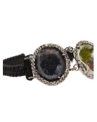 Kimberly Mcdonald | Black Macramé Bracelet with Triple Diamond Pavé | Lyst