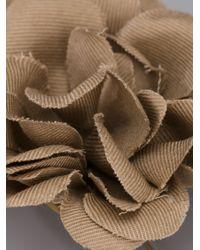 Lanvin - Natural Buttonhole Flower Pin - Lyst