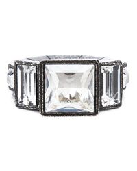 Lanvin | Metallic Art Deco Ring | Lyst