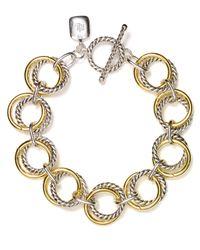 Lauren by Ralph Lauren | Gray Two Tone Chain Link Bracelet | Lyst