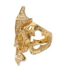Loree Rodkin - Metallic Yellow Gold Fleur De Lis Ring With White Diamonds - Lyst